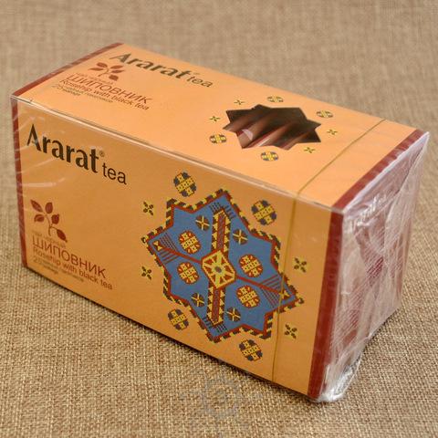 Чай черный с шиповником в пакетиках Арарат, 25х2г