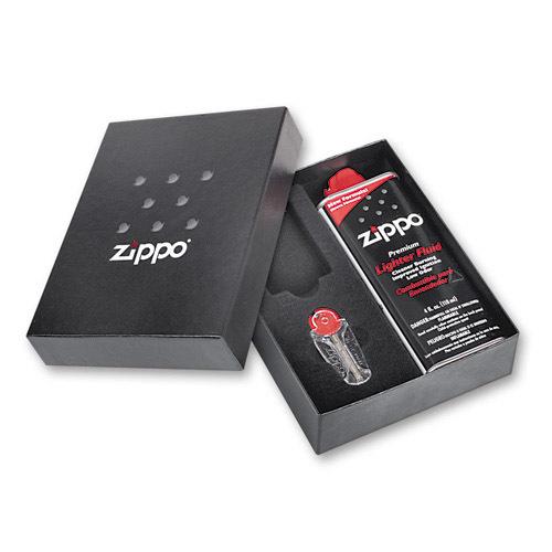 Подарочная коробка Zippo плюс топливо и кремни 118х43х145 мм ZP-50R