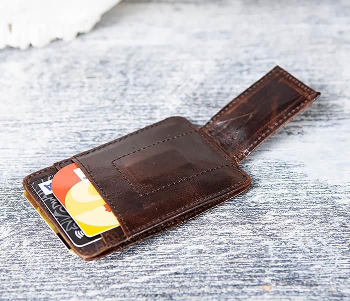 WL306-2 Кожаный зажим для денег с магнитом фото 13