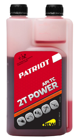 Масло для 2-х тактных бензиновых двигателей PATRIOT POWER 2T