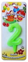 Свеча тортовые ароматизированные цифры-мармеладки 2