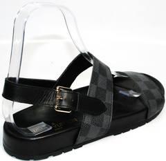 Мужские сандалии из кожи Louis Vuitton 1008 01Blak.