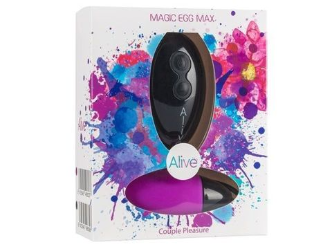 Фиолетовое виброяйцо Magic egg с пультом управления