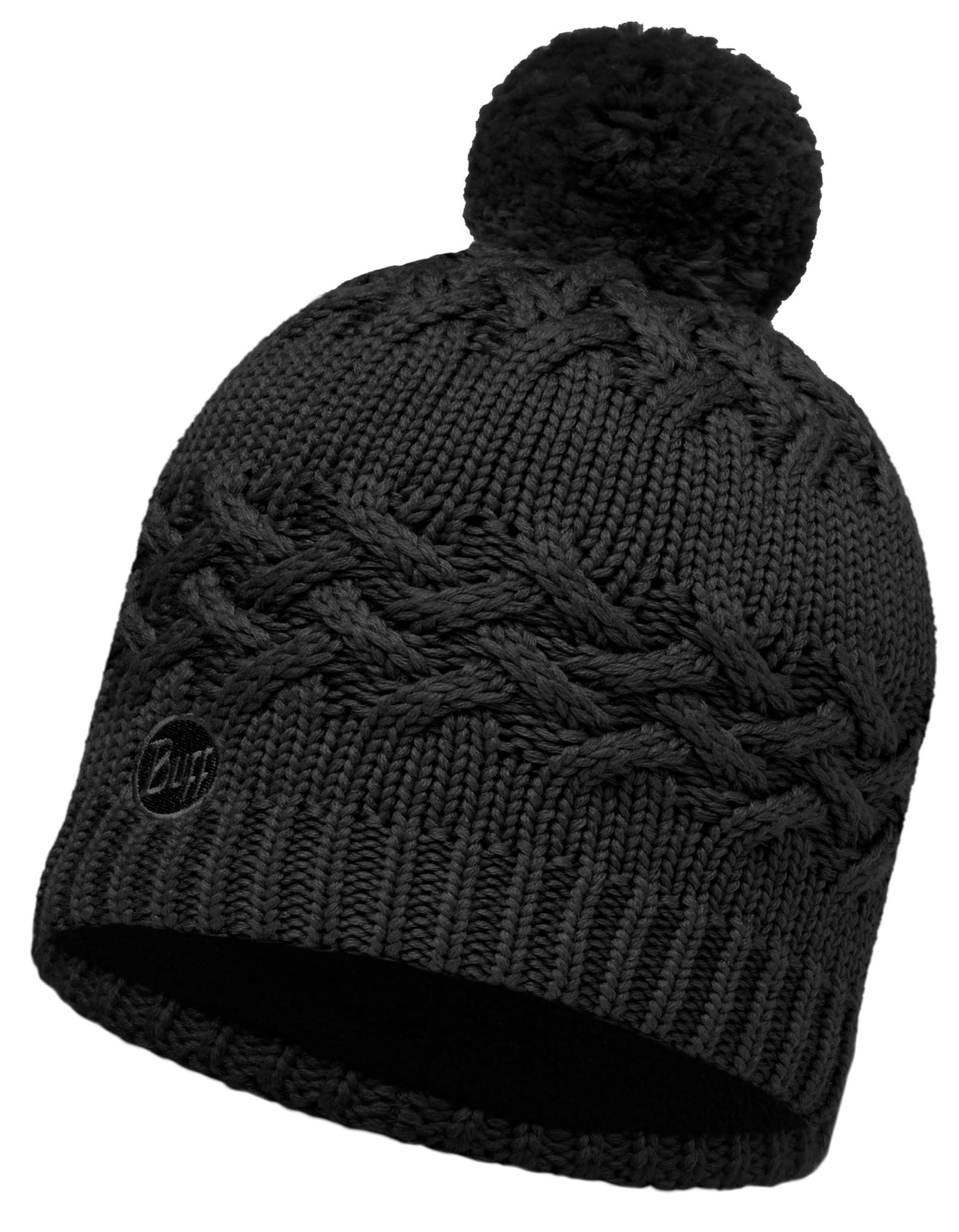 Вязаная шапка с флисовой подкладкой Buff Savva Black