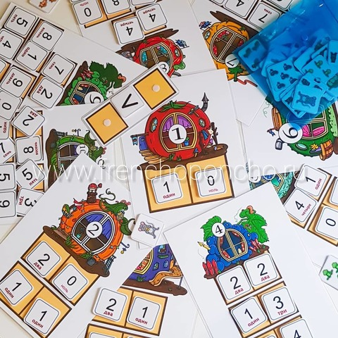 Игра на липучках Теремки (состав числа), Frenchoponcho (Френчопончо)
