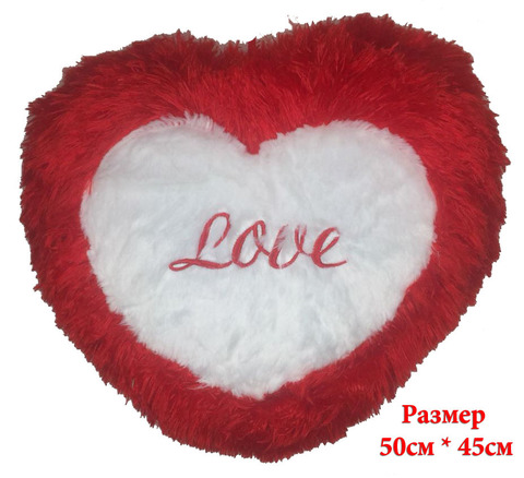 Подушка Love красно-белая