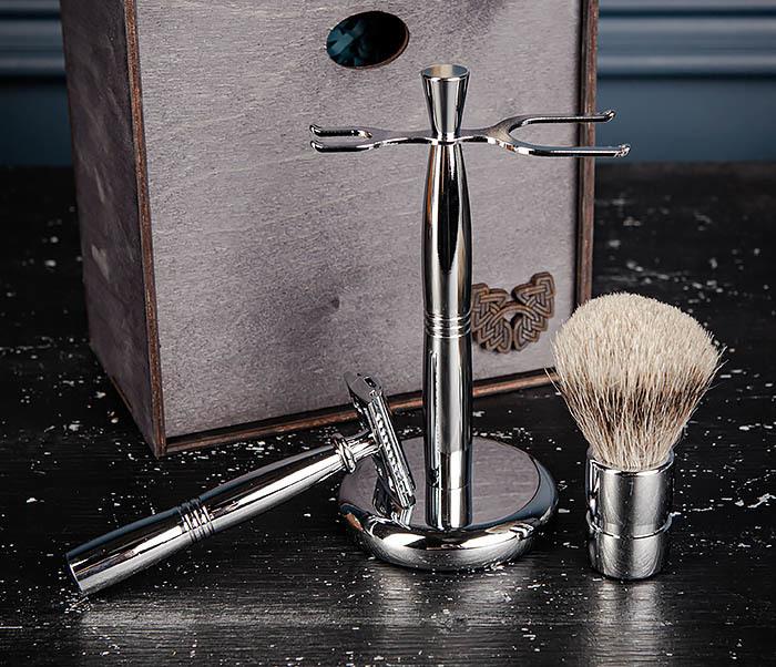 RAZ484 Подарочный набор для бритья: подставка, станок и помазок фото 11