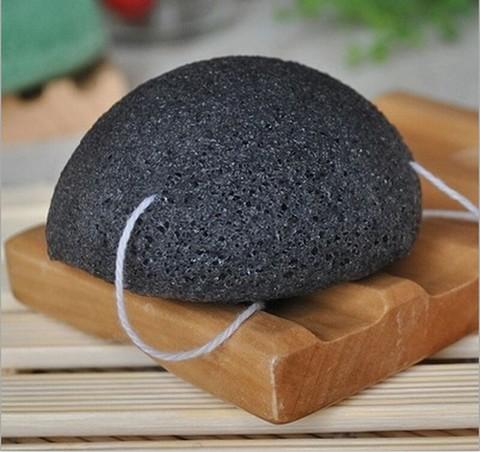 Konjac Sponge, Натуральный конжаковый спонж с добавлением бамбукового угля
