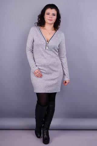Мариэлла. Женское стильное платье. Серый.