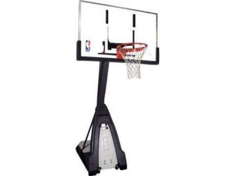 Баскетбольная стойка мобильная, стекло Spalding NBA THE BEAST PORTABLE 60