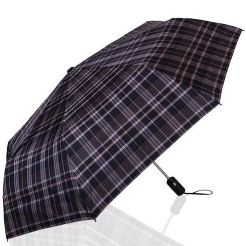 Зонт мужской в клетку ТРИ СЛОНА 907-4