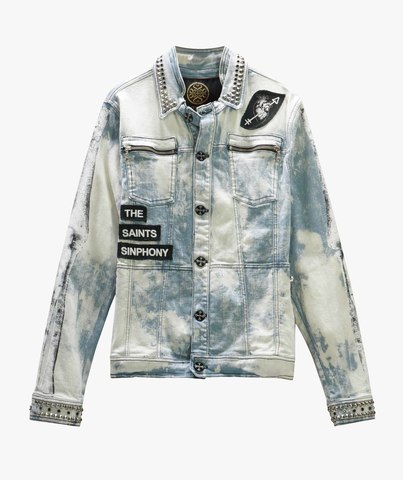 Куртка джинсовая The Saints Sinphony BONES JACKET LT. BLUE AND SILVER