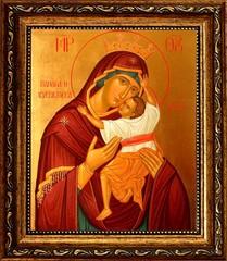 Взыграние Младенца. Икона Божьей Матери на холсте