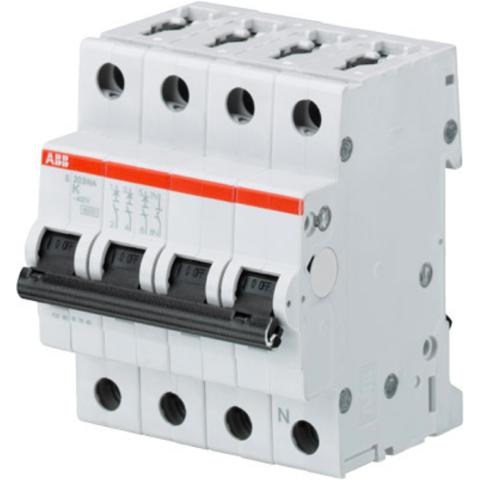 Автоматический выключатель 3-полюсный с нулём 16 А, тип K, 10 кА S203M-K16NA. ABB. 2CDS273103R0467