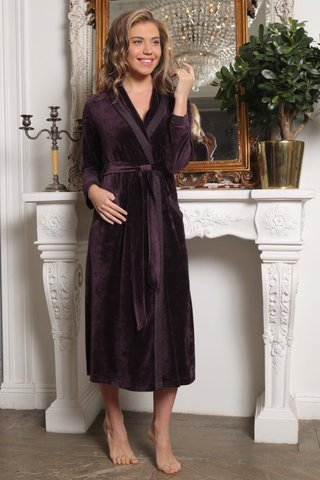 Велюровый халат из бамбука Burlesk (EFW)