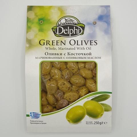 Оливки с косточкой маринованные с оливковым маслом DELPHI