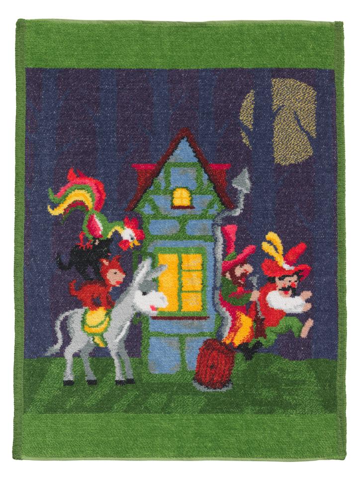 Детские полотенца Полотенце детское 37x50 Feiler Marchen Bremer Stadt Musikant 195 зеленое elitnoe-polotentse-detskoe-shenillovoe-marchen-bremer-stadt-musikant-195-zelenoe-ot-feiler-germa.jpg