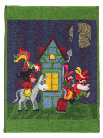 Полотенце детское 37x50 Feiler Marchen Bremer Stadt Musikant 195 зеленое