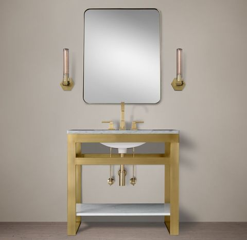 Bowery Single Washstand with Marble Shelf