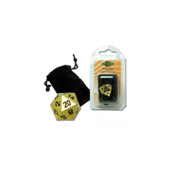 D20 Metal with velvet bag - Gold