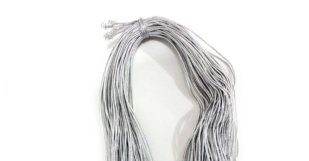 Декоративная резинка-шнур, 2 мм, 1 м.
