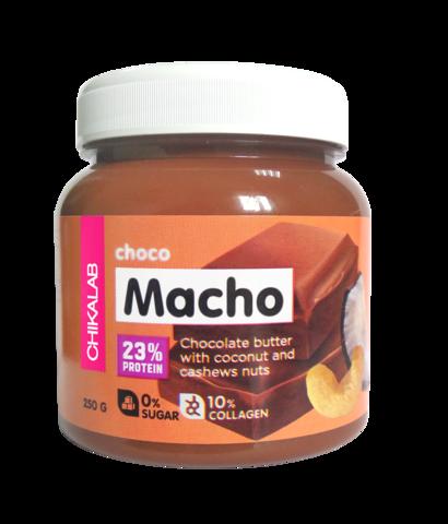 Паста Chikalab Choco Macho Шоколадная с кокосом и кешью, 250 гр