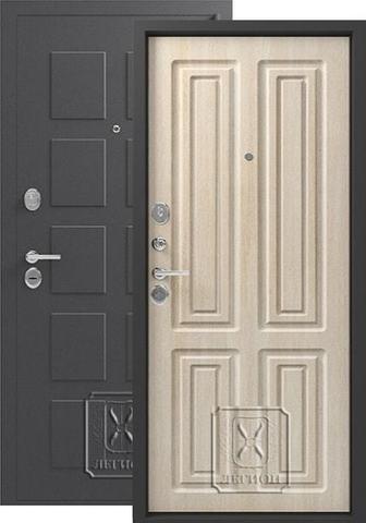 Дверь входная Легион L-5, 2 замка, 1,5 мм  металл, (серый блеск+дуб седой)