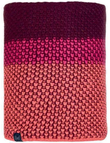 Шарф-труба вязаный с флисом Buff Neckwarmer Knitted Polar Tilda Bright Pink