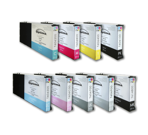 Комплект из 7 картриджей Optima для Epson 4000/7600/9600 7x220 мл