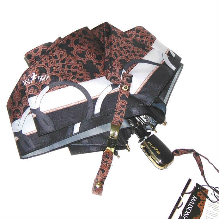 Зонт мини Maison Perletti 16225-br Lace design bordo