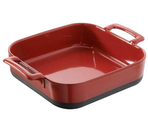 Квадратное фарфоровое блюдо для запекания красное, артикул 639030, серия Eclipse
