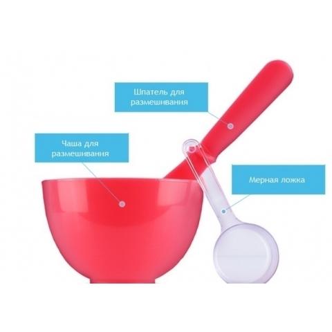 ANSKIN Tools Набор для нанесения альгинатных масок Beauty Set Red (Rubber Ball Small/Spatula middle/Measuring Cup)