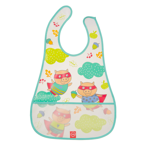 Нагрудник Happy Baby на липучке WATERPROOF BABY BIB из ПВХ-пленки Арт. 16005N Mint