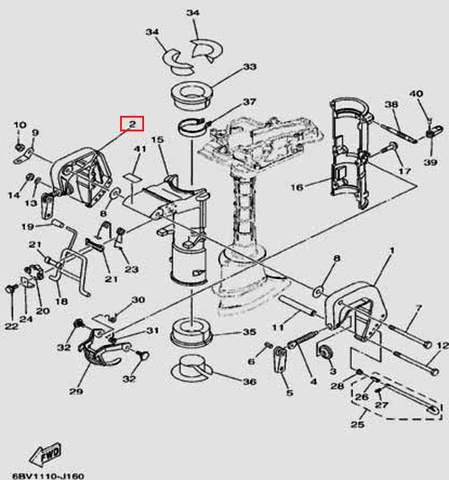 Скоба струбцины левая для лодочного мотора F5 Sea-PRO(16-2)