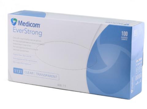 1131 Перчатки виниловые без пудры Medicom