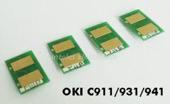 Чип для тонер-картриджа OKI C911 / OKI C931. Цвет пурпурный. Ресурс 24K