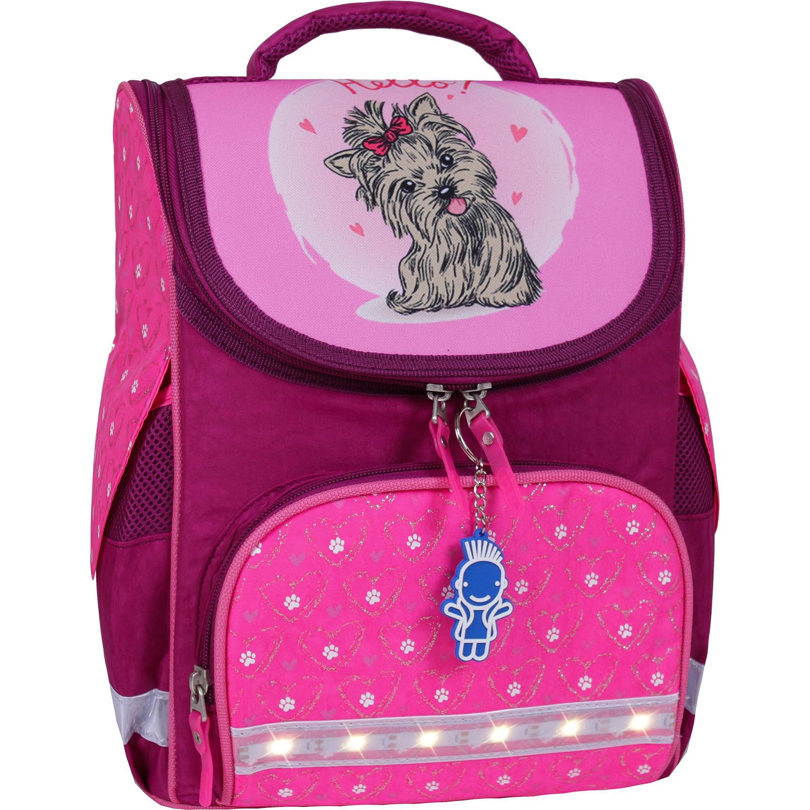 Школьные рюкзаки Рюкзак школьный каркасный с фонариками Bagland Успех 12 л. малиновый 167 (00551703) IMG_7427-1600.jpg