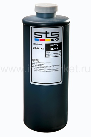 Пигментные чернила STS™ (USA) UltraChrome K3 Photo Black для Epson Stylus Pro 4800/4880/7800/7880/9800/9880/7890 - 1000 мл