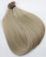 Волосы на кератиновых капсулах цвет  Холодный песочный блонд -52 см