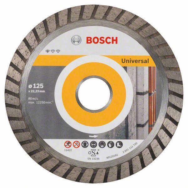 Алмазный диск Standart for Universal Turbo 125-22,23 10шт Bosch 2608603250