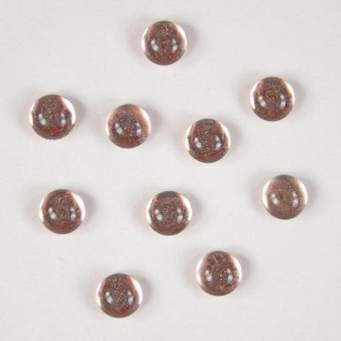 Кабошон круглый Чешское стекло, цвет - розовый, 5 мм, 10 штук