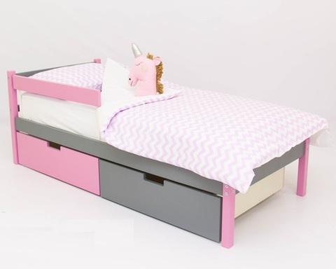 Кровать ФОРЕСТ лаванда-графит
