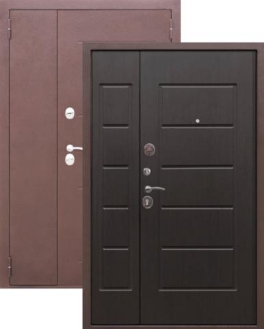 Дверь входная Гарда 7,5 см, 2 замка, 1,5 мм  металл, (чёрный муар+венге)