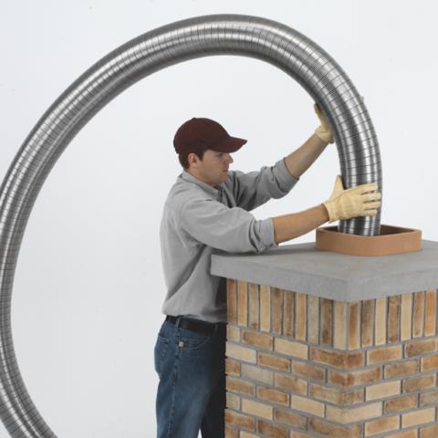 Полужесткий воздуховод из нержавеющей стали ф140 (1м)