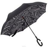 Зонт наоборот Черная газета