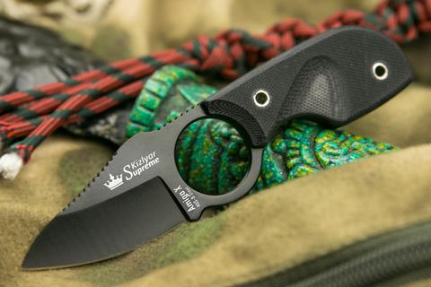 Шейный нож Amigo X Black AUS-8