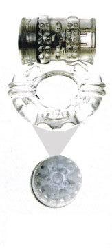 Эрекционные кольца: Прозрачное эрекционное кольцо с вибратором и стимуляцией клитора