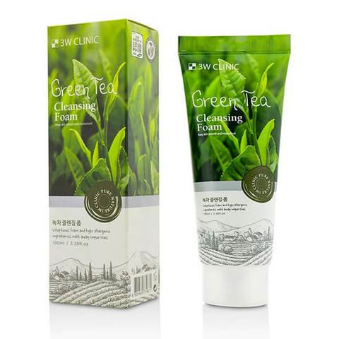 3W Clinic Пенка для умывания с экстрактом зеленого чая 100мл