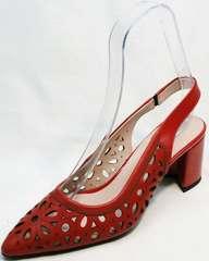 Остроносые туфли женские летние G.U.E.R.O G067-TN Red.