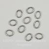 Винтажное колечко овальное одинарное 7х5х0,9 мм (оксид серебра), 10 штук